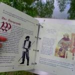 Blick in das Freilandbuch vom Hungerpohl am Dorfteich