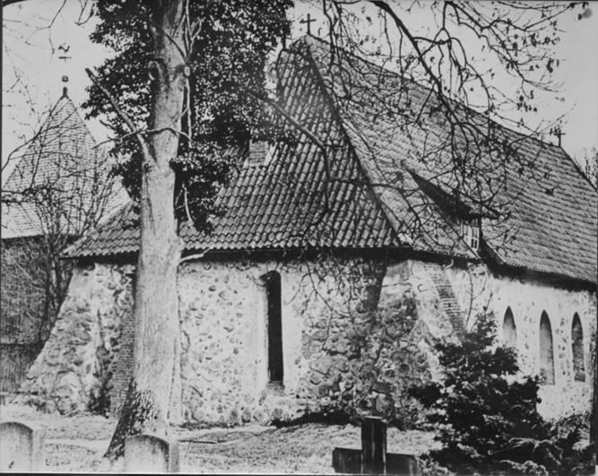 Schwarz-Weiß-Foto Magdalenenkirche anno 1929